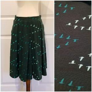 Lularoe Madison Pocket Green Goose Skirt